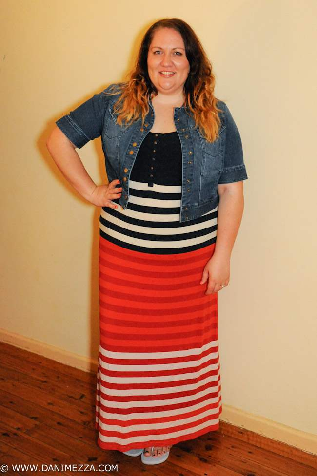 Denim plus size maxi dress