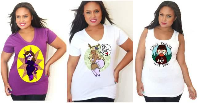 Tiny Hobo for Custom Plus T-Shirts