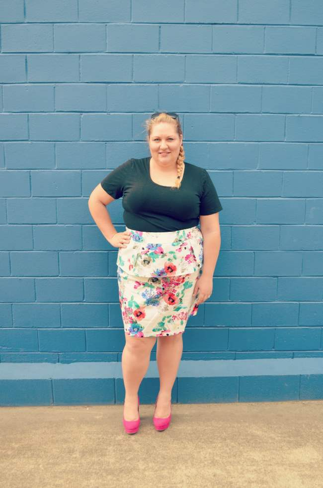 plus size eShakti peplum skirt outfit 004