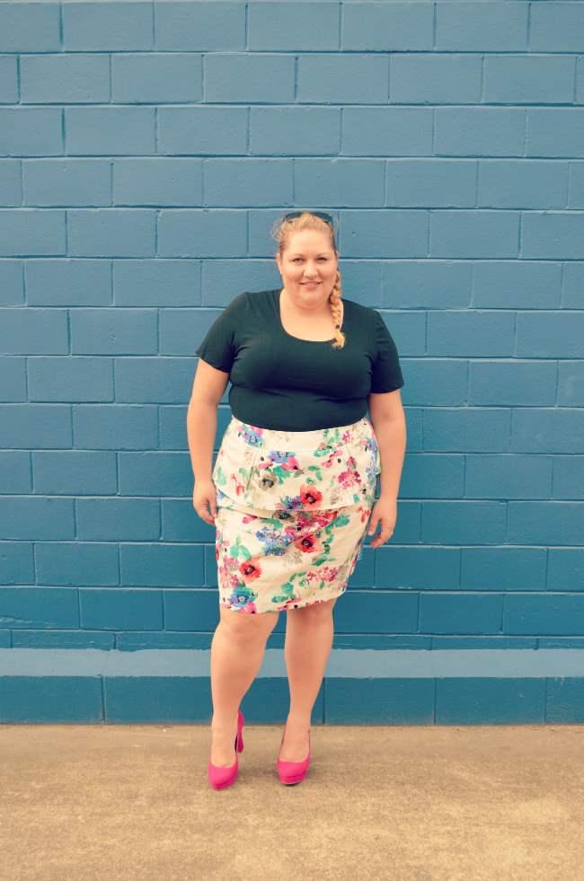 plus size eShakti peplum skirt outfit 006