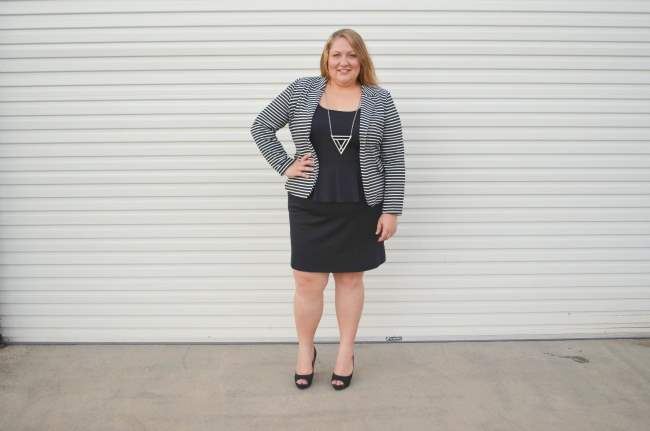 plus size peplum dress 003