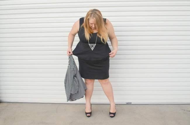 plus size peplum dress 006