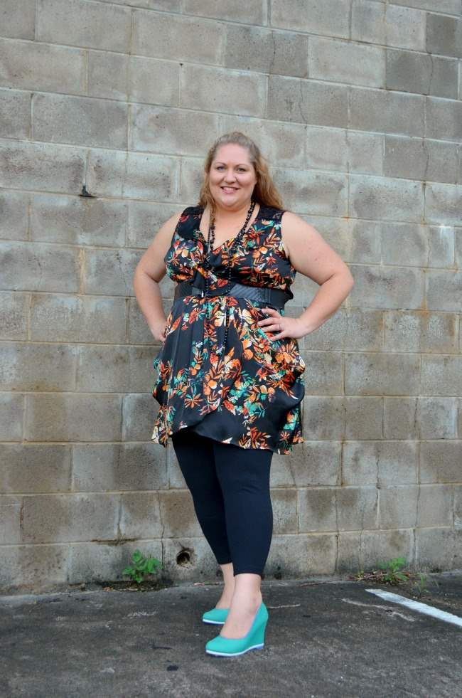 plus size city chic tunic and leggings 001