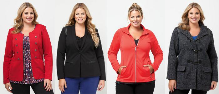 plus size jackets by Virtu