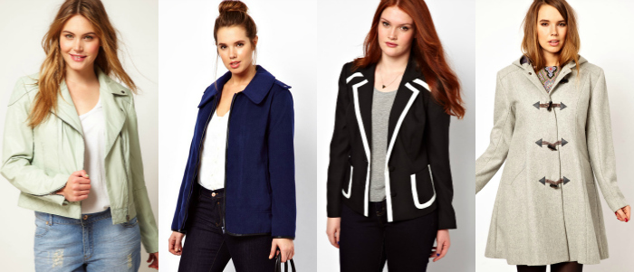 plus size jackets from asos curve