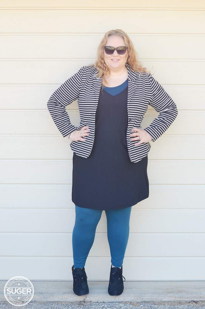 plus size asos shift dress for winter-2