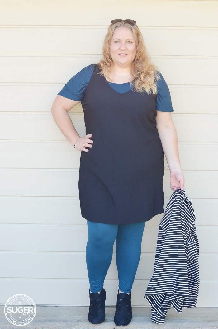plus size asos shift dress for winter-4