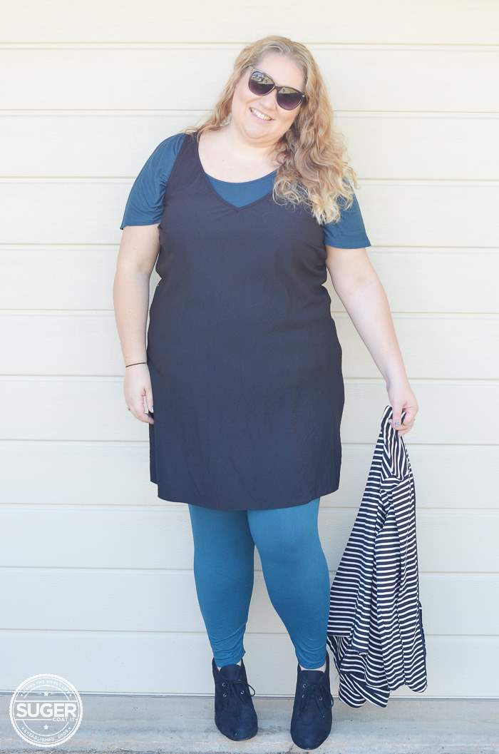 plus size asos shift dress for winter-6
