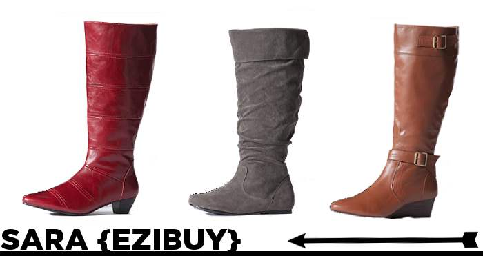 SARA via Ezibuy Boots for wide calves