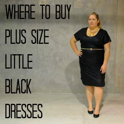 Size  Black Dress on Where To Buy Plus Size Little Black Dress Jpg