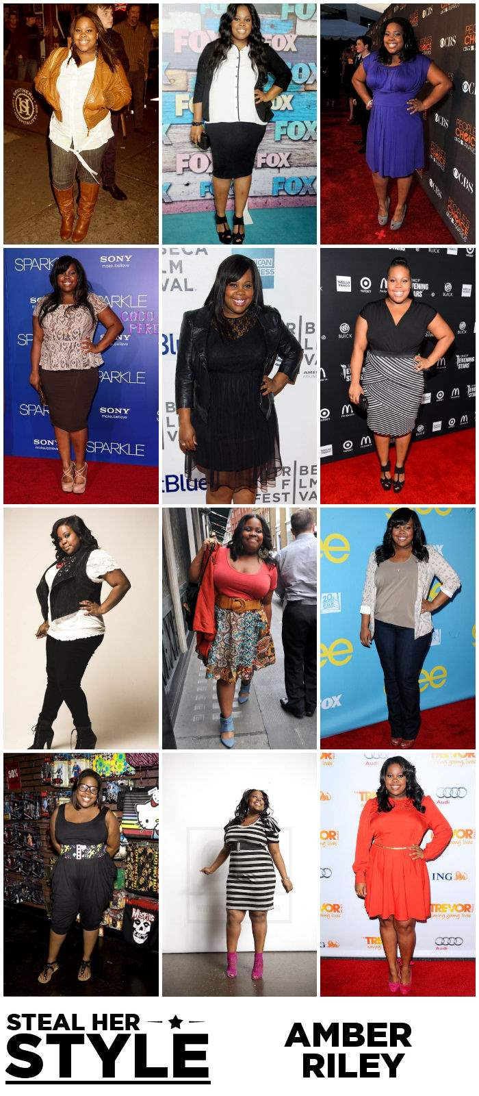 Amber Riley Steal Her Style Collage