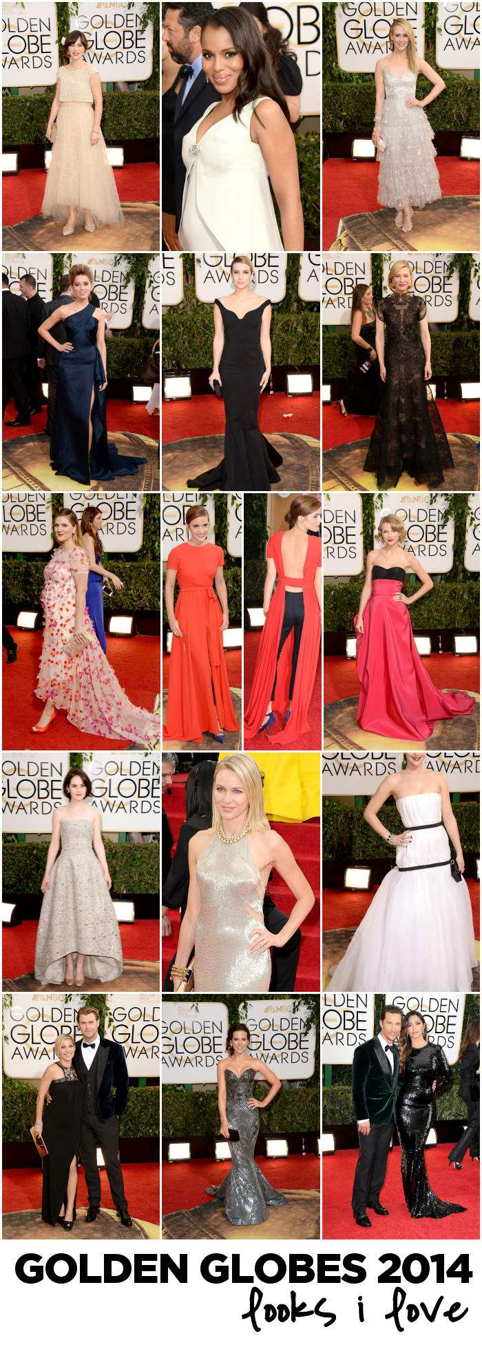 Golden Globes 2014 I LOVE IT collage