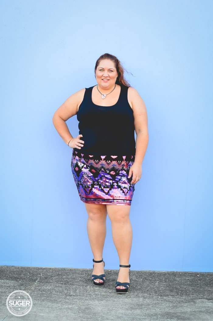 plus size sequin skirt fun outfit-4