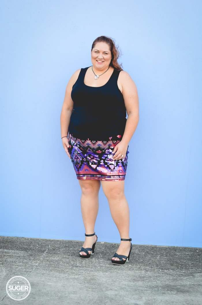 plus size sequin skirt fun outfit-5