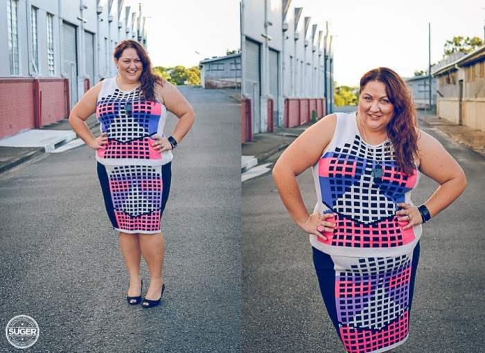 plus size fashion cut for evans knit skirt knit vest-001