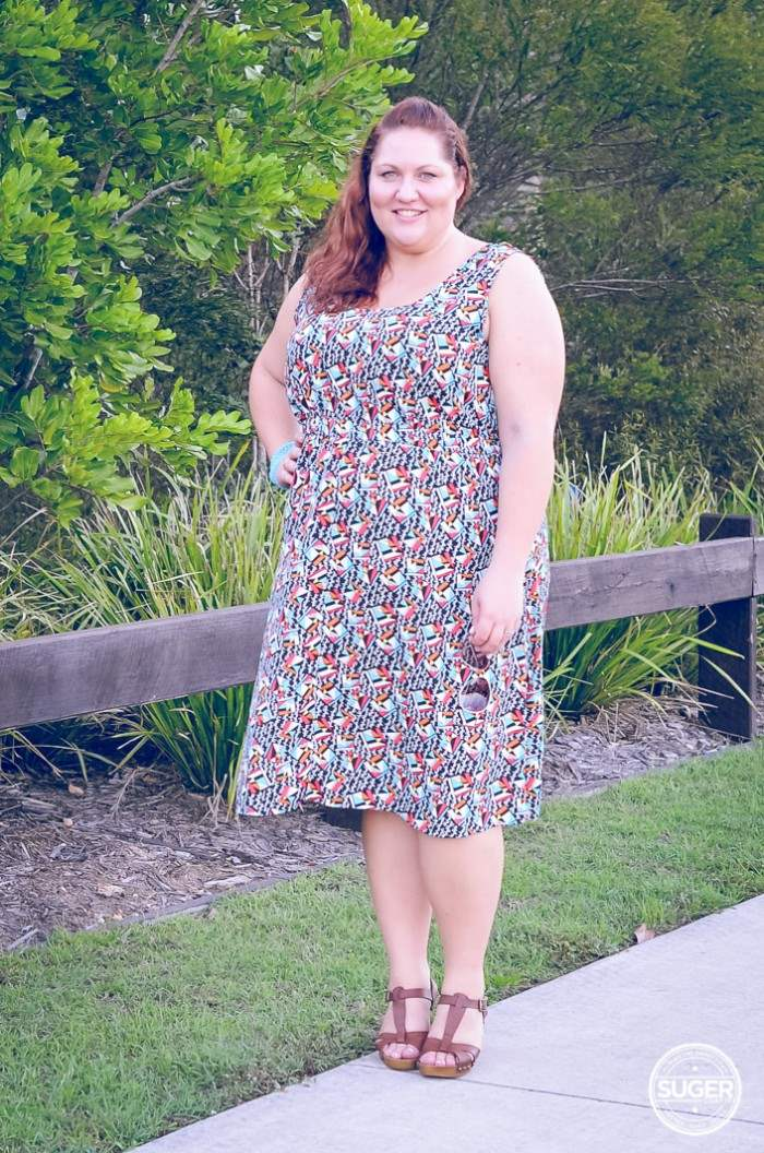 plus size casual dress with denim jacket outfit-4