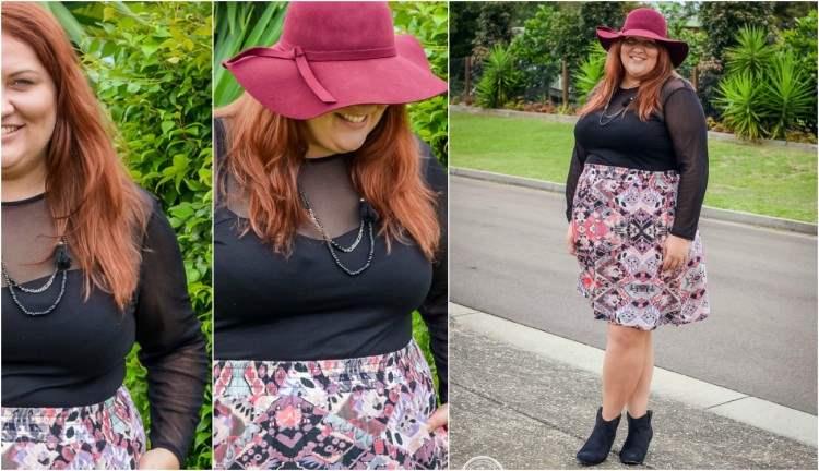 17 sundays skirt and felt hat outfit