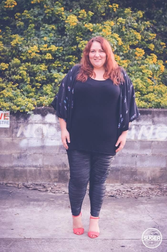 plus size leggings + tunic + shrug autumn winter-4