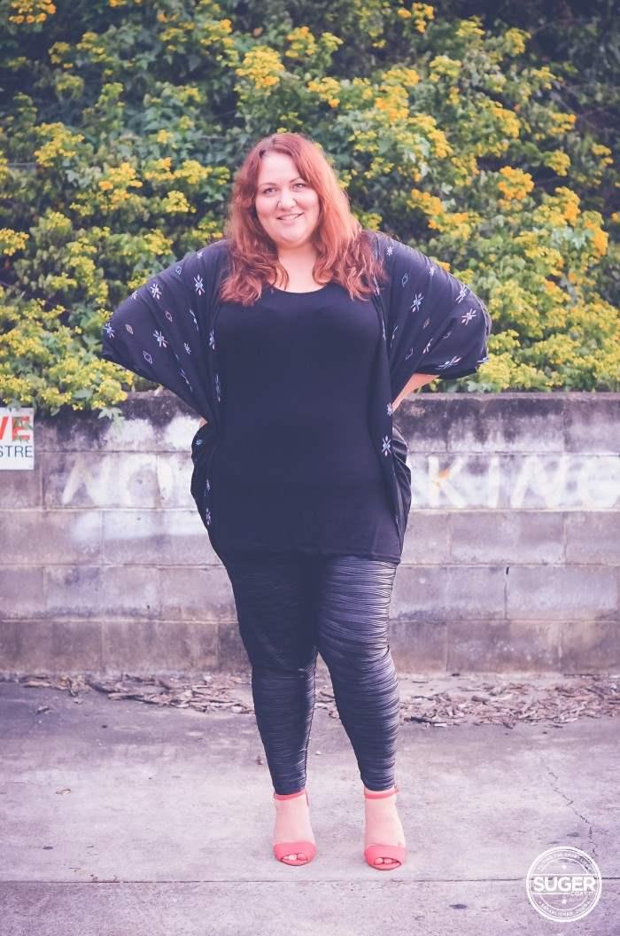 plus size leggings + tunic + shrug autumn winter-5