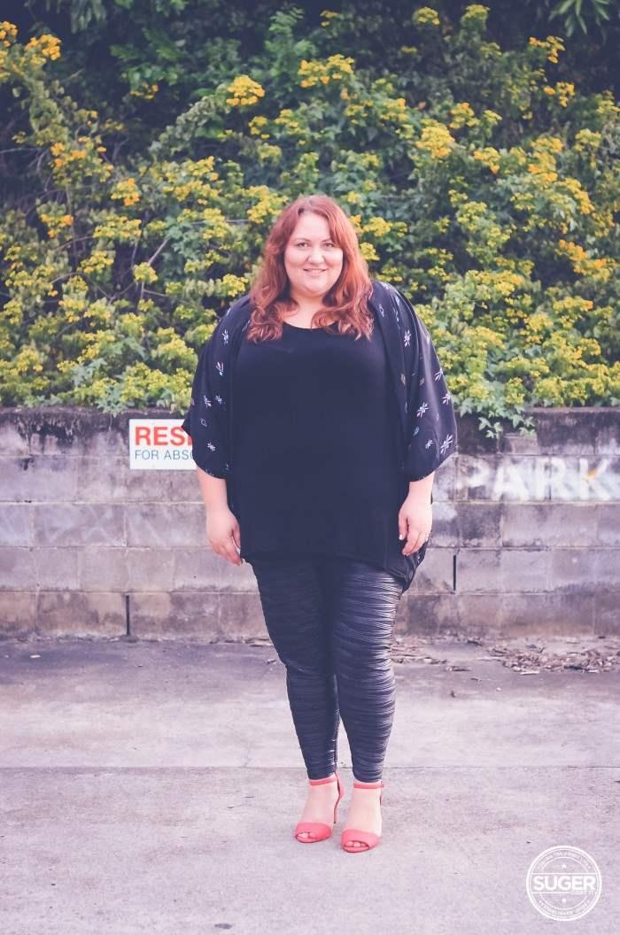 plus size leggings + tunic + shrug autumn winter-7