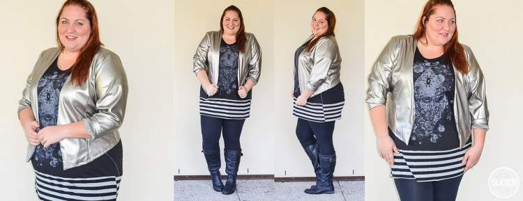 plus size tunic + leggings + boots outfit post header 02