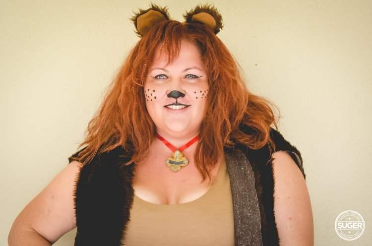 plus size cowardly lion costume hair makeup-1