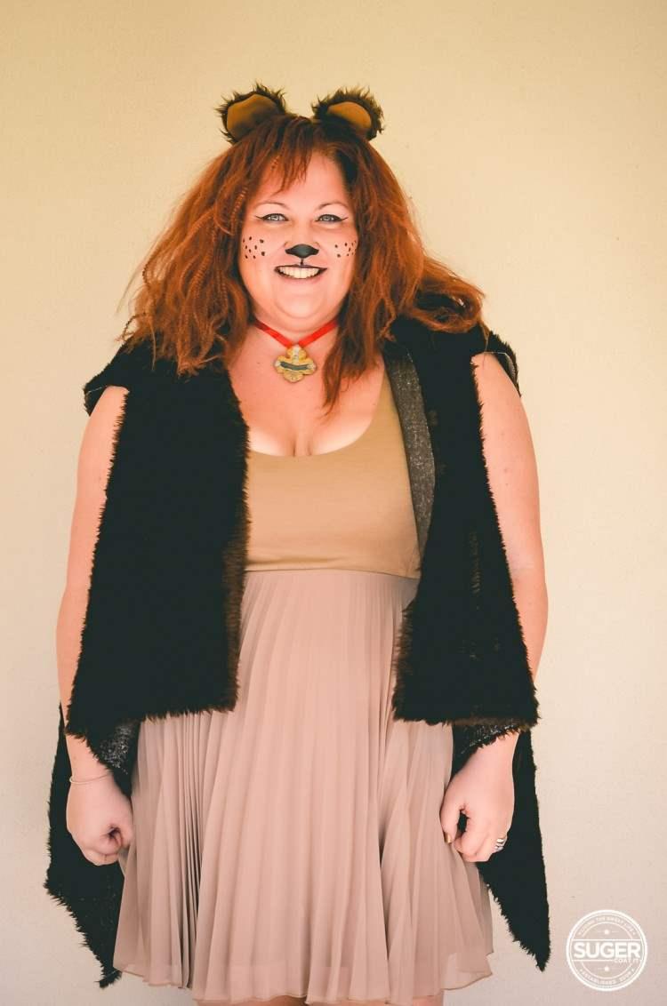 plus size cowardly lion costume hair makeup-2