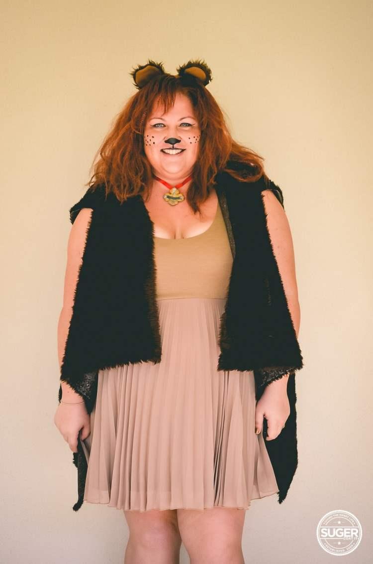 plus size cowardly lion costume hair makeup-3