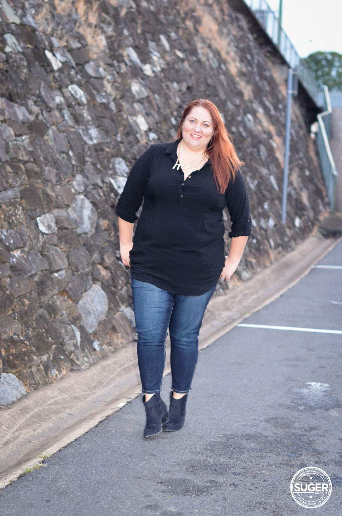 Plus Size Skinny Jeans And Boots - Jeans Am