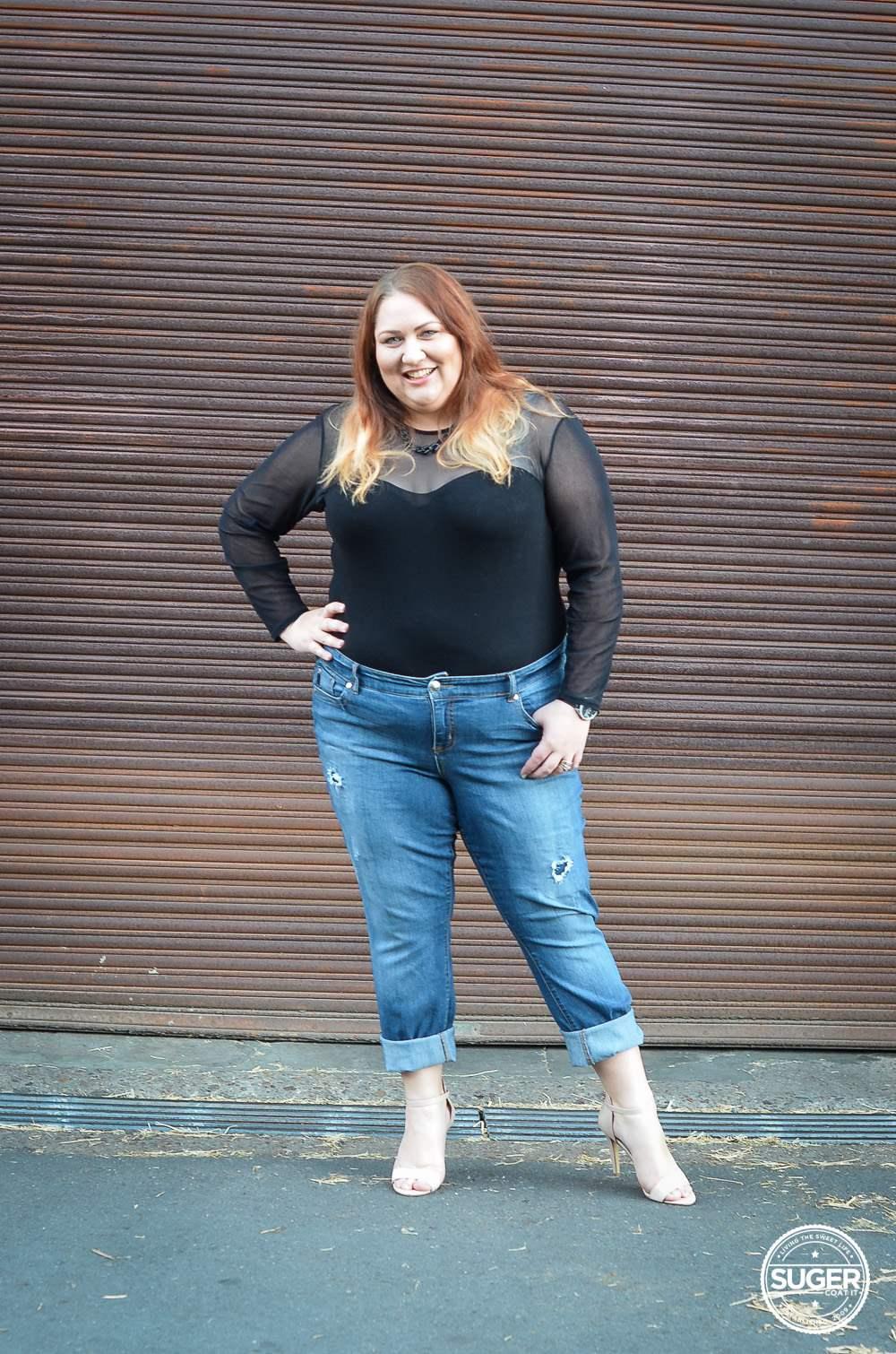Фото полных девушек в бойфренд джинсах