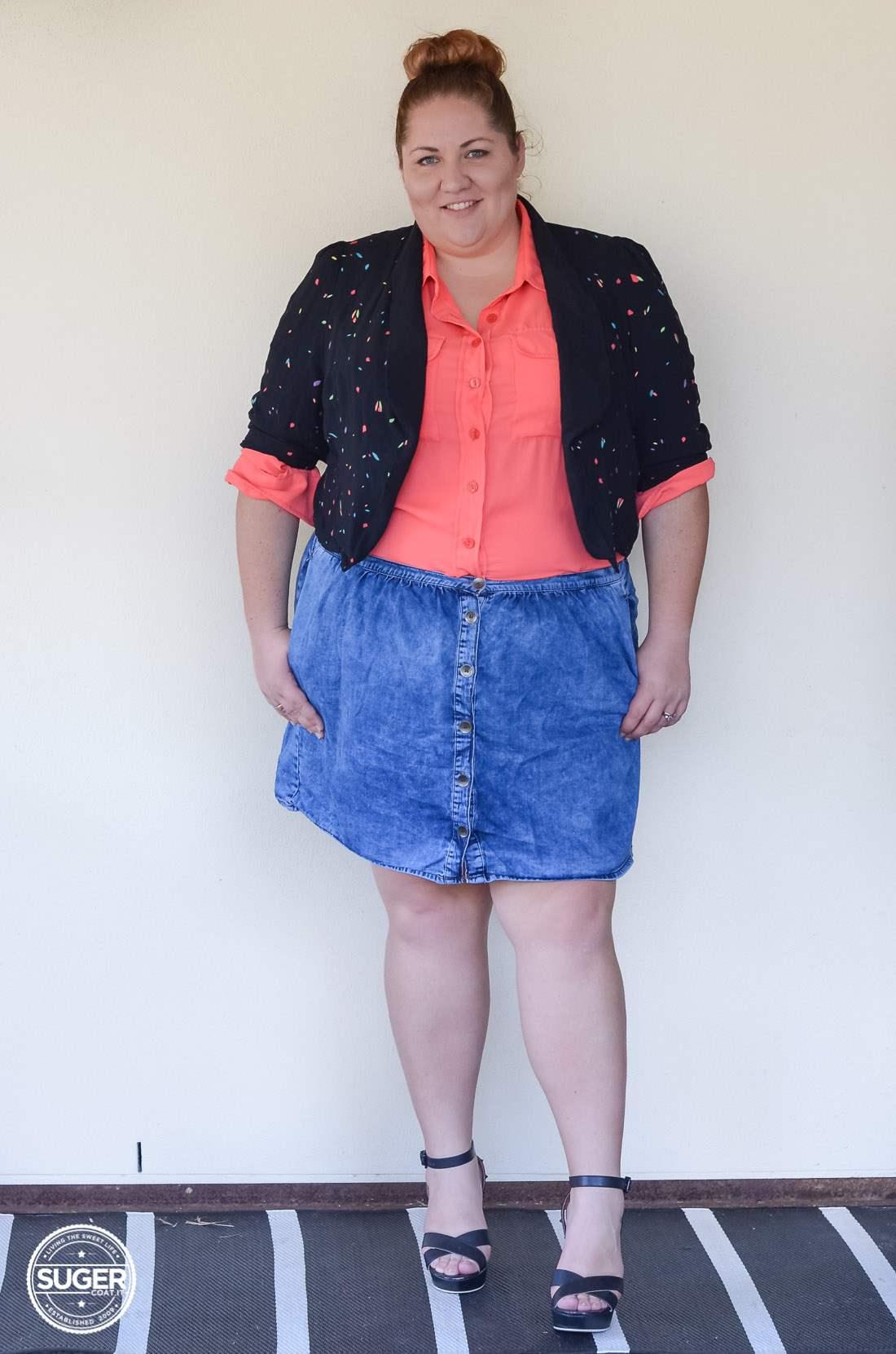 17 sundays jacket blouse + asos curve denim skirt-10
