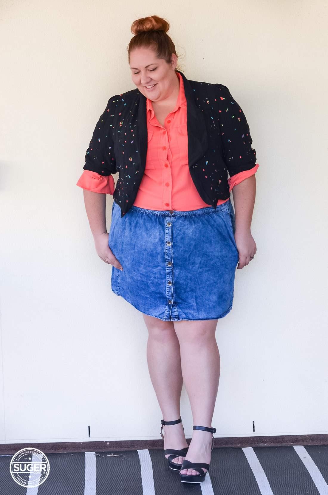 17 sundays jacket blouse + asos curve denim skirt-13