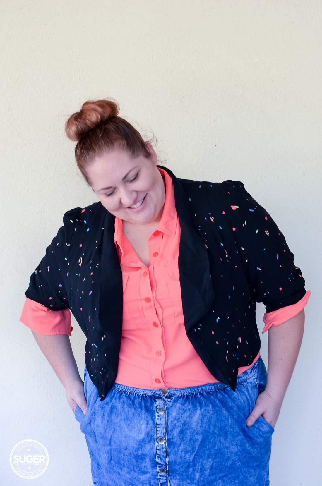 17 sundays jacket blouse + asos curve denim skirt-16