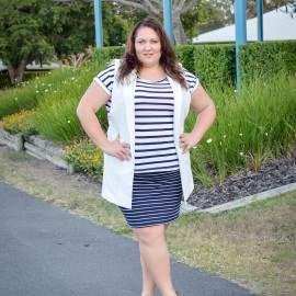 Stripes, stripes and a longline waistcoat