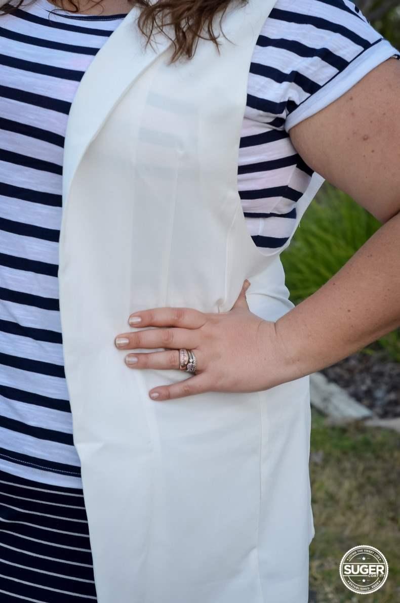 plus size stripe casual oufit long vest summer spring-5