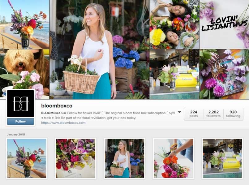 Bloom Box Co Instagram Account