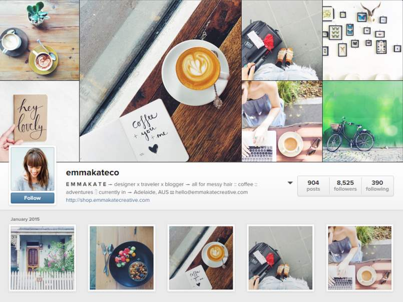 Emma Kate Co Instagram Account