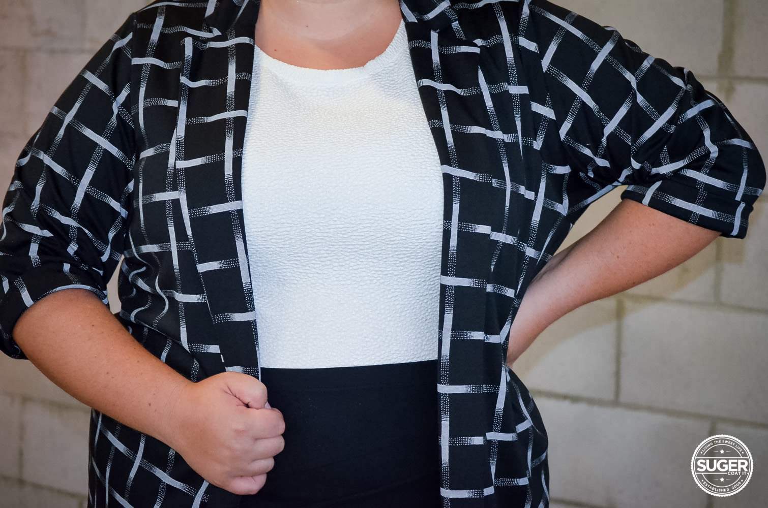 boohoo plus size work style monochrome outfit-6