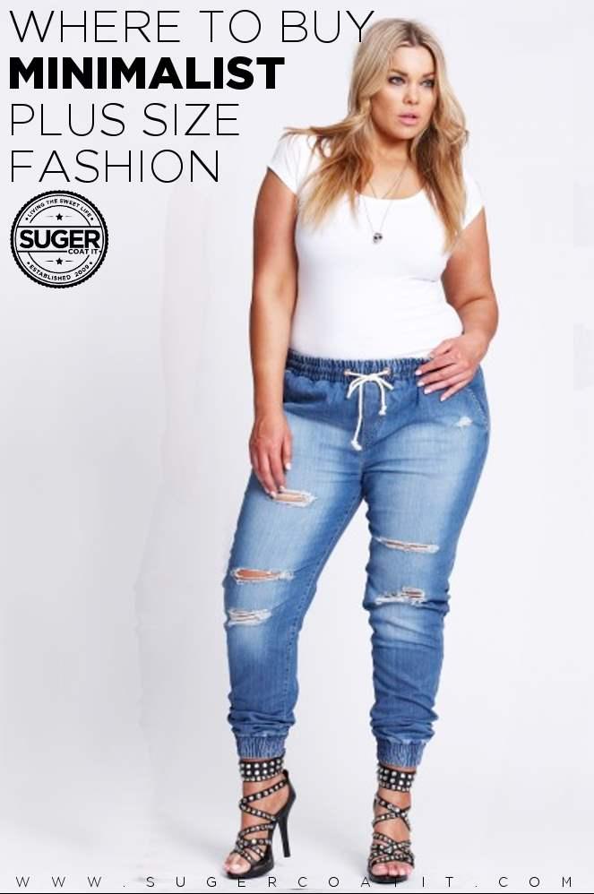 where to buy minimalist plus size fashion