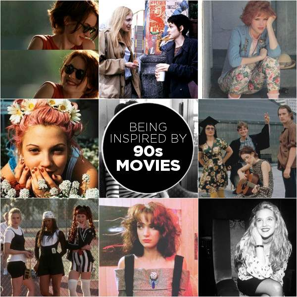 90s movies collage - inspiration mood board