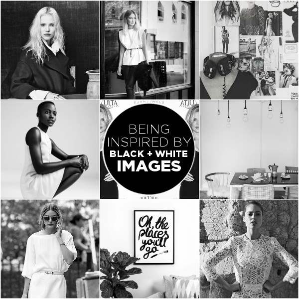 black and white images mood board - inspiration - suger coat it