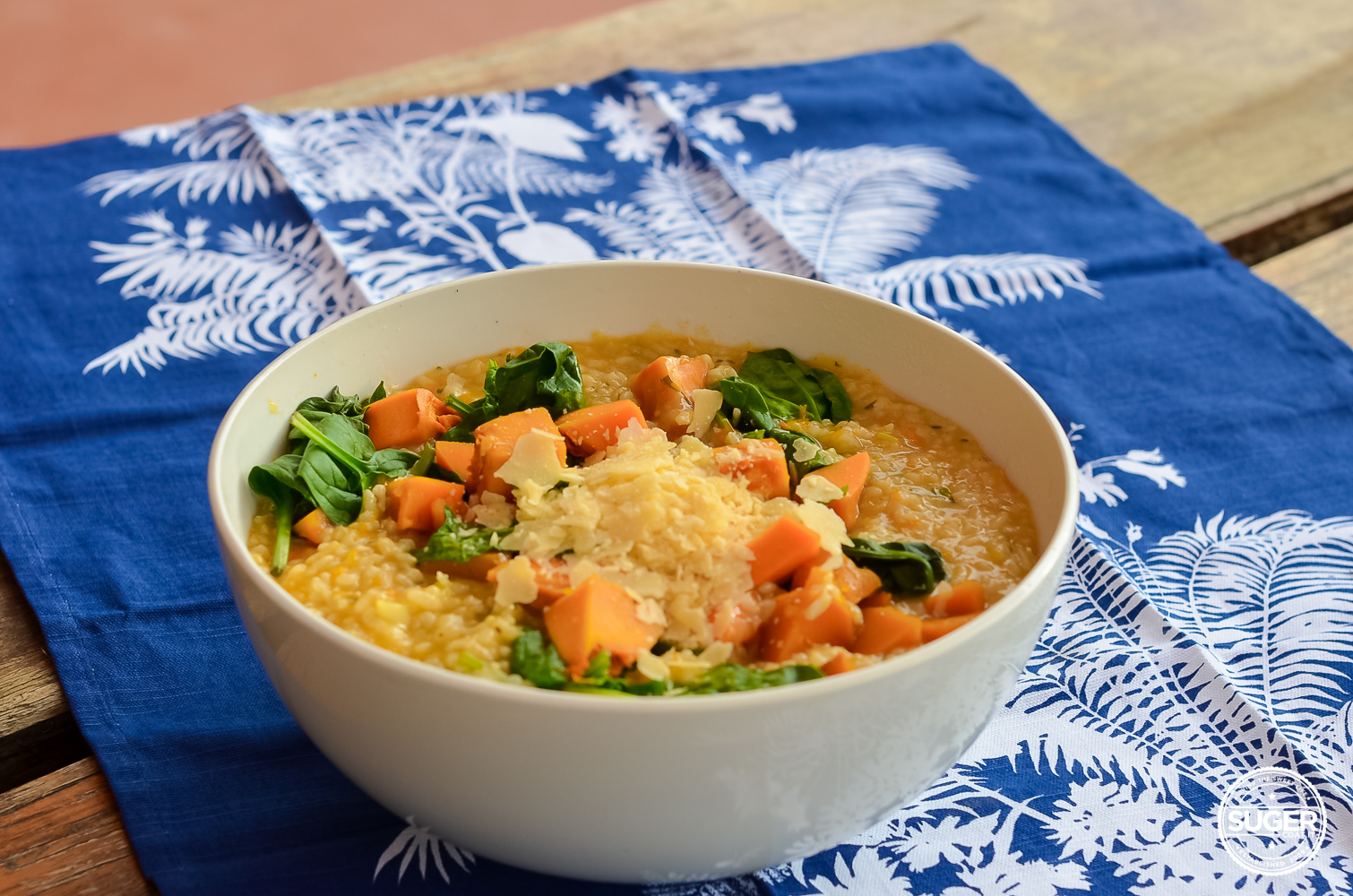 thermomix pumpkin and spinach risotto recipe-8