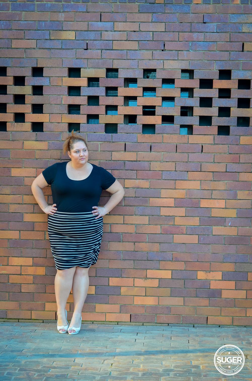 plus size work style stripe skirt 17 sundays-5