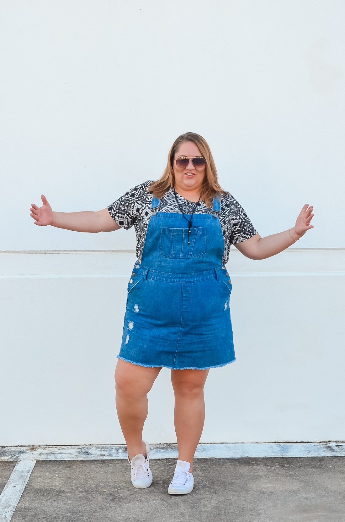 city chic skirt overalls summer plus size outfit-1