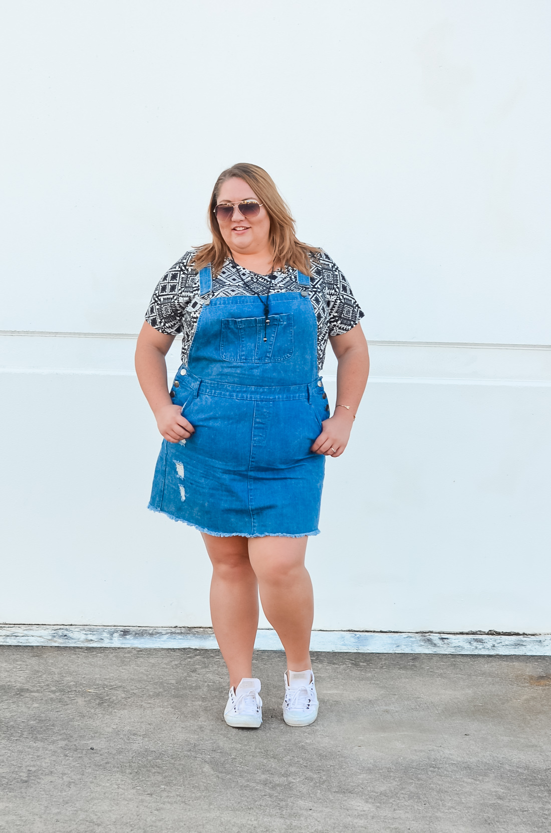 city chic skirt overalls summer plus size outfit-2