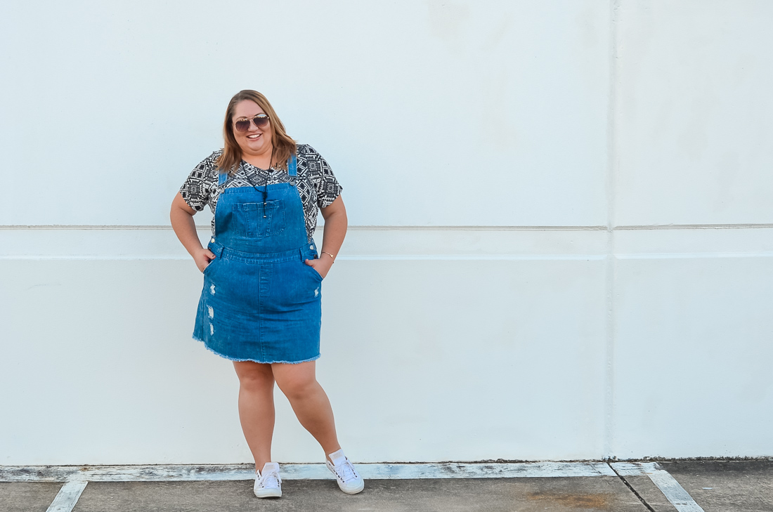city chic skirt overalls summer plus size outfit-5