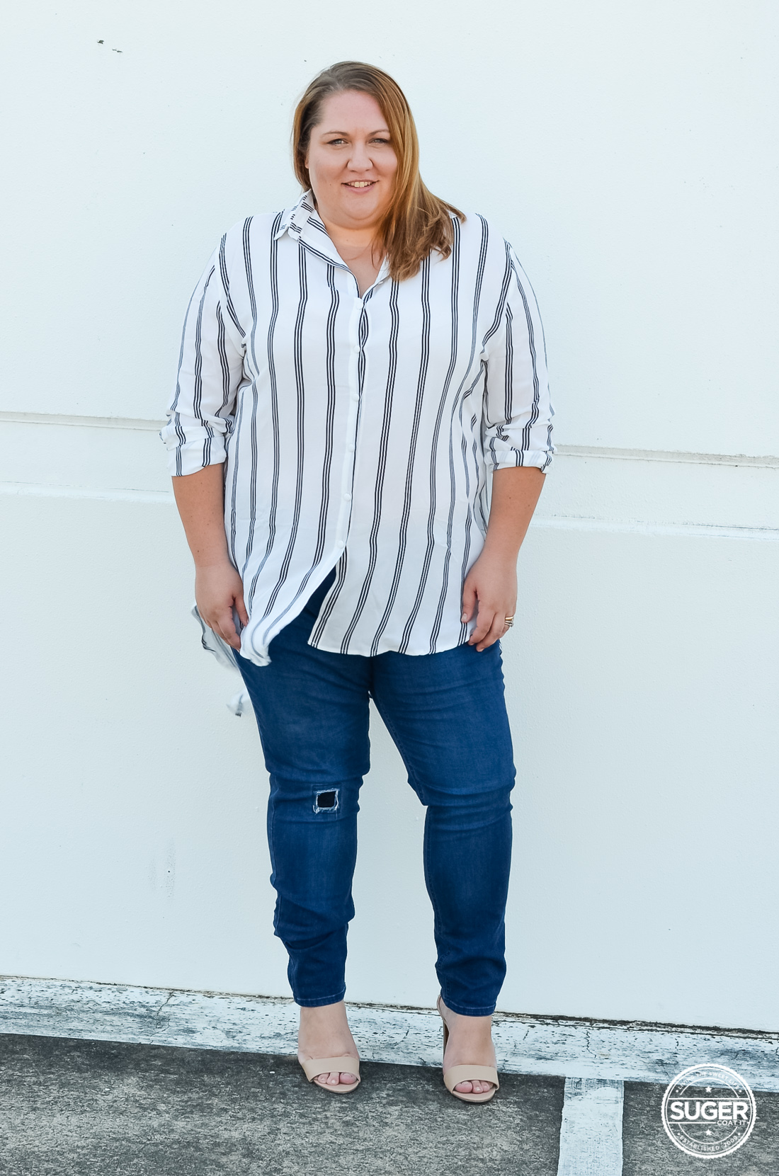 missguided plus size shirt dress over 17 sundays jeans-5