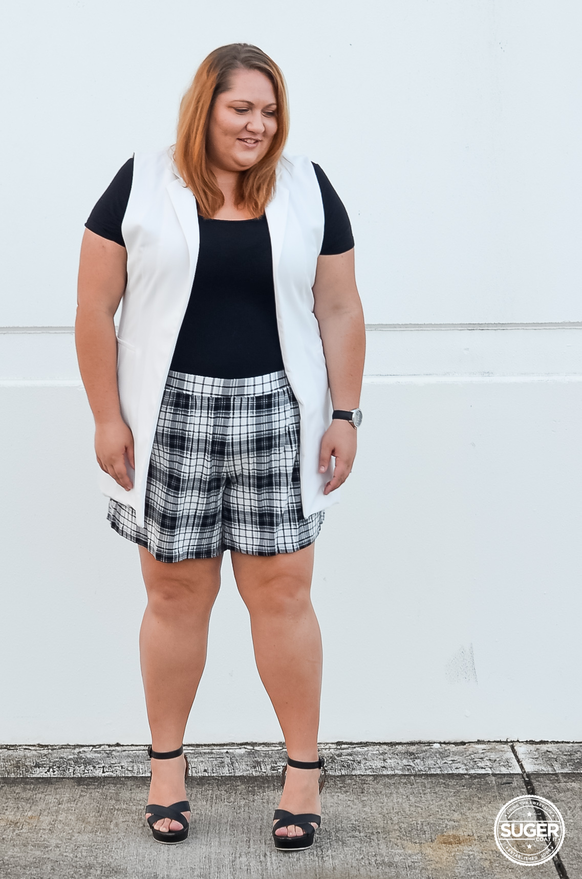 plus size shorts outfit for summer-1