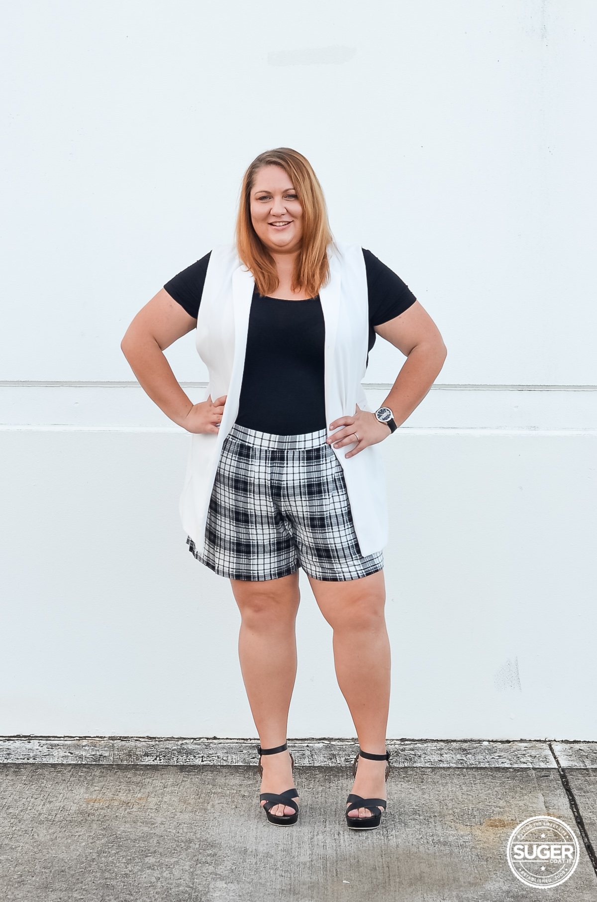 plus size shorts outfit for summer-2