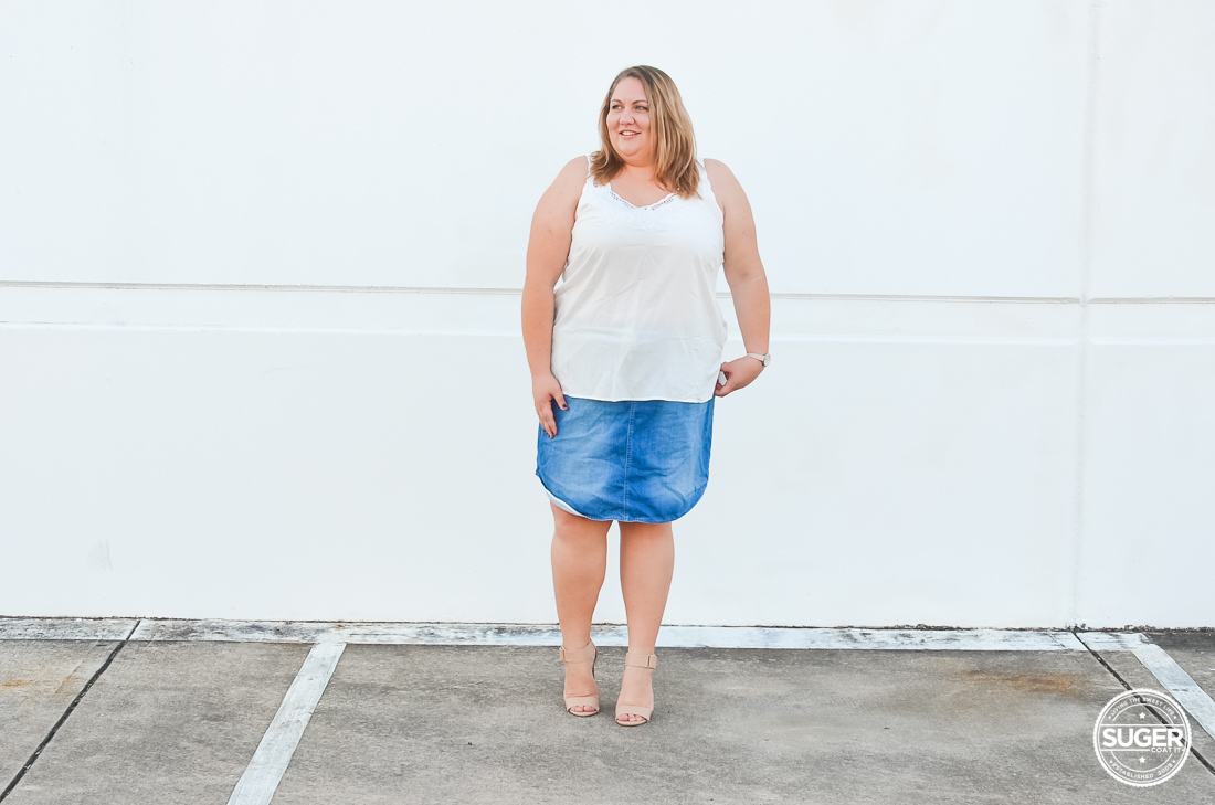 Plus Size White Jean Skirt - Jeans Am